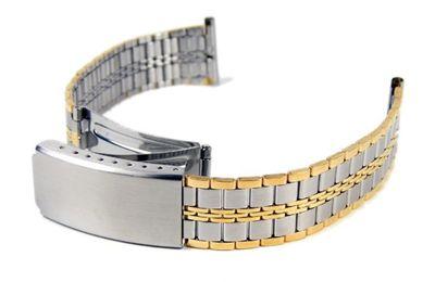 Uhrenarmband Edelstahl Bicolor IP Gelbgold 18mm 20mm – Bild 2