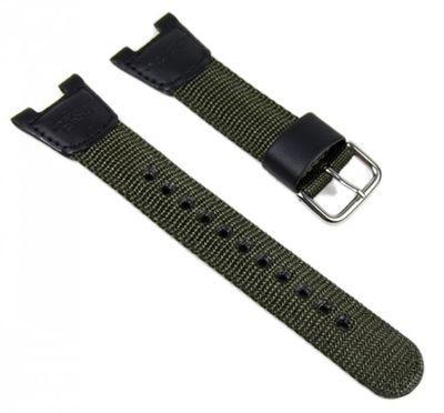Casio Ersatzband Uhrenarmband Textil/Leder Band schwarz-Olive SGW-100B – Bild 1