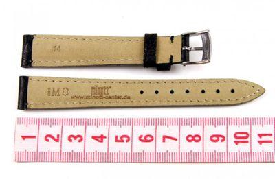 Morellato Chagall Ersatzband Uhrenarmband Kalbsleder/Straußoptik schwarz 14mm  – Bild 2