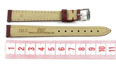 Morellato Chagall Ersatzband Uhrenarmband Kalbsleder/Straußoptik Band Weinrot 12mm  – Bild 2