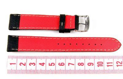 Morellato Biathlon Active Rosso Ersatzband Uhrenarmband Leder schwarz 18mm  – Bild 2