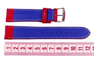 Morellato Biathlon Active Rosso Ersatzband Uhrarmband Leder Wasserfest Rot 20mm  – Bild 2