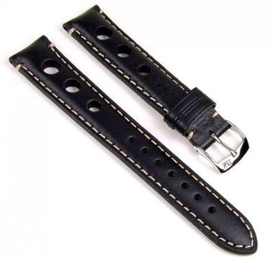 Morellato Giotto Vitello Ersatzband Uhrenarmband Kalbsleder Band schwarz 18mm  – Bild 1