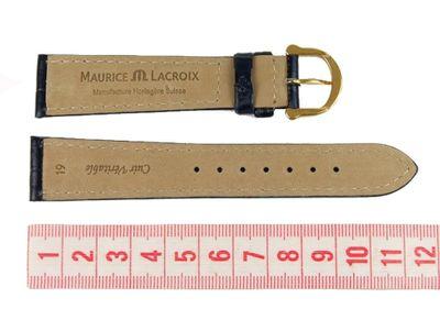 Maurice Lacroix Band 19mm | Kalbsleder-Louisiana-Optik, blau 18924G – Bild 2