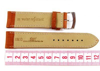 Morellato Baseball Alligatore Ersatzband Uhrenarmband Kalbsleder Goldbraun 22mm 19035S – Bild 2