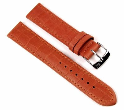 Morellato Baseball Alligatore Ersatzband Uhrenarmband Kalbsleder Orange 20mm 19039S