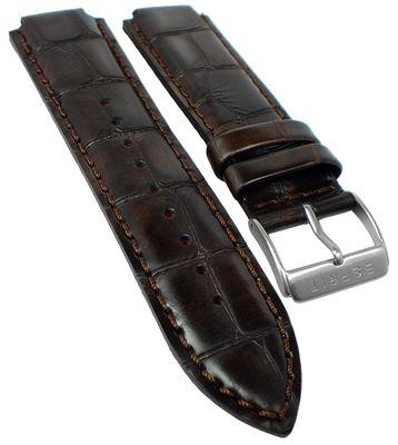 Esprit Uhrenarmband | Leder in Kroko-Optik, braun für ES000T31021 – Bild 1