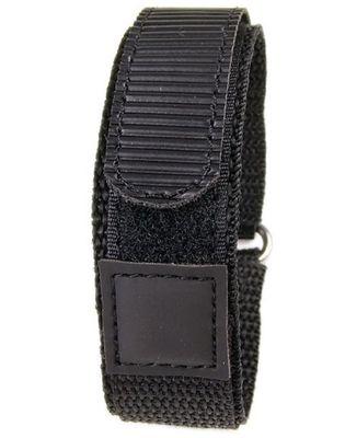Minott Uhrenarmband 22mm | Textil Klettband schwarz 16136 – Bild 1