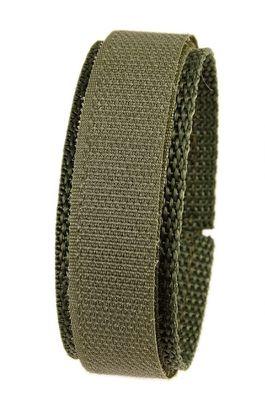 Minott Ersatzband Uhrenarmband Textilband Klettband Olive 20mm 19167