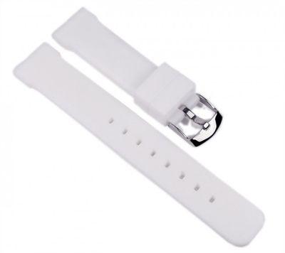Minott Ersatzband Uhrenarmband Silikon Band weiß 18mm – Bild 1