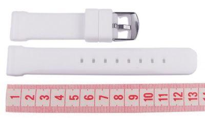 Minott Ersatzband Uhrenarmband Silikon Band weiß 18mm – Bild 2