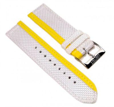 Esprit Uhrenarmband Textil/Leder 20mm weiß/gelb für ES102402006