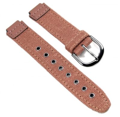 Casio Ersatzband Uhrenarmband Textil / Leder Band Perlrosa für SHN-100B – Bild 1