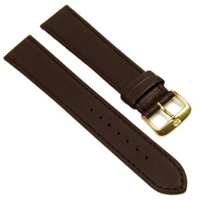 Di-Modell Softina Ersatzband Kalbsleder XL Band Uhrenarmband Wasserfest Dunkelbraun 20mm  – Bild 1
