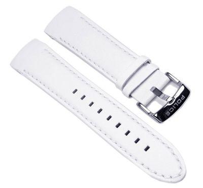 Police Cyber Marken Uhrenarmband Leder Weiss 22mm für Herrenuhr PL12898JS-02A 12898J – Bild 1