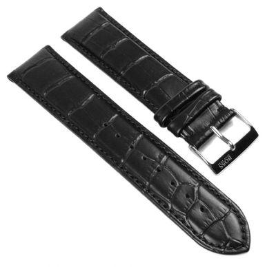 Ersatzband Leder schwarz 22mm Hugo Boss 1512429 1512708 1512780 – Bild 1