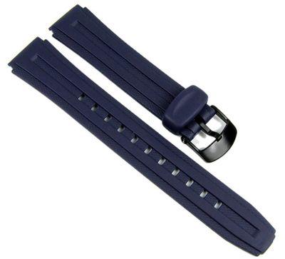 Casio Ersatzband Uhrenarmband Resin Band Dunkelblau 18mm für W-211-2 W-211 – Bild 1