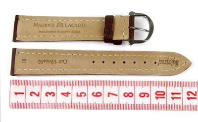 Maurice Lacroix Ersatzband Uhrarmband Leder Tiago Waterproof Braun 18mm 297961825S-TiT – Bild 2