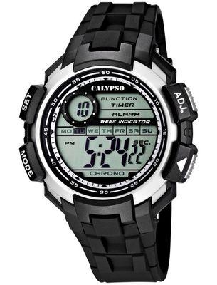 Calypso Digitale Herrenuhr, Zweite Zeitzone, Alarm, Stoppuhr,  K5595 – Bild 1