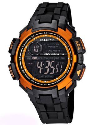 Calypso Digitale Herrenuhr, Zweite Zeitzone, Alarm, Stoppuhr,  K5595 – Bild 4