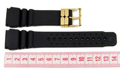 Citizen Marken Ersatzband Uhrenarmband Kautschuk Taucherband 24mm für JP2004-07E 59-L7321 – Bild 3
