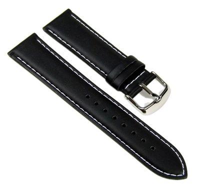 Casio Ersatzband Uhrenarmband Leder Band schwarz 22mm für EF-324L-1 EF-324L