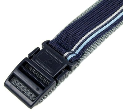 Casio Ersatzband Uhrenarmband Textil Klettband Durchzugsband 20mm Blau-Grau BG-3003V – Bild 3