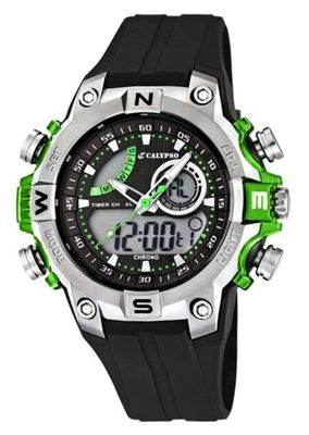 Calypso Watches K5586 Herrenuhr Alarm-Chrono analog-digital – Bild 1
