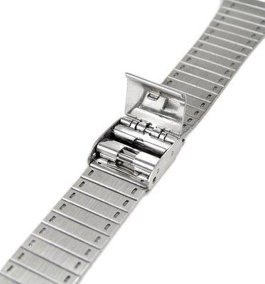 Minott Ersatzband Uhrenarmband Edelstahl Band Silberfarben Schiebeverschluss 18mm 823021000318 – Bild 2