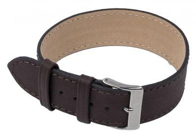 Minott Ersatzband Uhrenarmband Leder Band Durchzugsband 20mm Dunkelbraun 201082028 – Bild 1