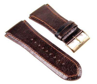 Esprit Uhrenarmband Ersatzband Lederband Dunkelbraun 29mm für Superior Brown ES101231704 – Bild 1