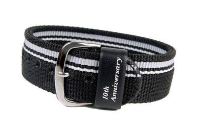 Casio Ersatzband Uhrenarmband Textil Band Durchzugsband schwarz für BG-1004AN-1ER BG-1004 – Bild 1