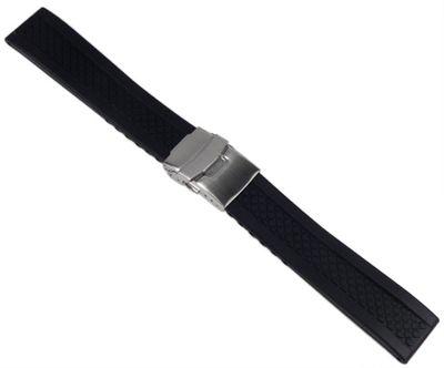 Minott Ersatzband Uhrenarmband Silikon Band 20mm schwarz 19909S – Bild 1