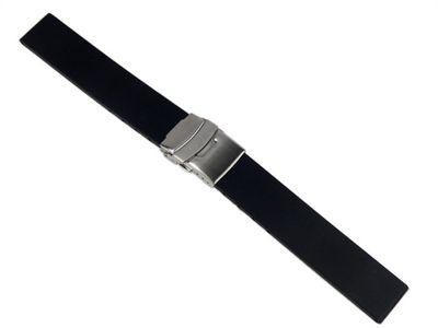 Minott Ersatzband Uhrenarmband Silikon Band 20mm schwarz