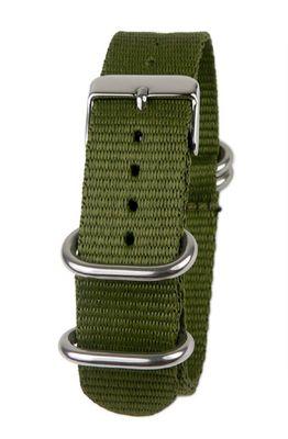 Minott Ersatzband Uhrenarmband Textil Nato Band 22mm Olivgrün 19914 – Bild 2