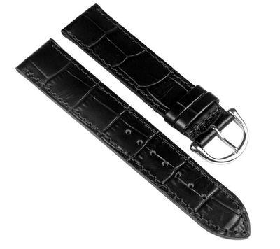 Maurice Lacroix Louisiana optik Ersatzband Leder schwarz 19mm