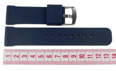 Minott Ersatzband Uhrenarmband Silikon Band Dunkelblau 20mm – Bild 2