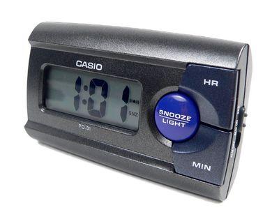 Casio Digital Wecker Reisewecker mit Snooze Funktion Anthrazit PQ-31-1EF – Bild 1