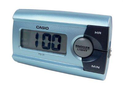Digital Reisewecker mit Snooze Funktion Blau Casio PQ-31-2EF – Bild 1