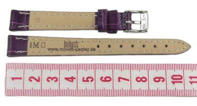 Morellato Bolle Ersatzband Uhrenarmband Kalbsleder Band Violett 16mm 20147S – Bild 2