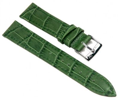 Morellato Bolle Alligator Uhrenarmband Kalbsleder Band Grün 16mm 20152S – Bild 1