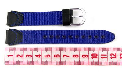 Casio Ersatzband Uhrenarmband Textil Band Blau/schwarz 15mm LW-201B – Bild 2