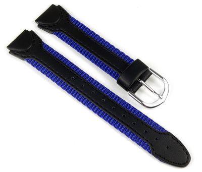 Casio Ersatzband Uhrenarmband Textil Band Blau/schwarz 15mm LW-201B – Bild 1