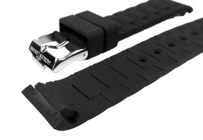 Ersatzband Silikon schwarz 18mm Jacques Lemans Rome Sports 1-1623A  – Bild 2