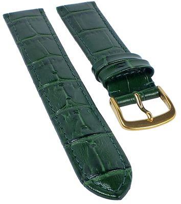 Ersatzband Uhrenarmband Kalbsleder Dunkelgruen  20319G – Bild 1