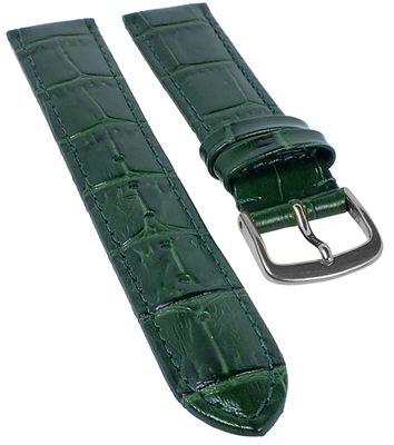 Ersatzband Uhrenarmband Kalbsleder Dunkelgruen  20320S – Bild 1