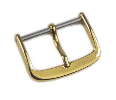 Minott Standard Ersatzschliesse Dornschließe Edelstahl IP Gold für Lederarmbänder 20331G