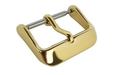 Minott Chrono Dornschließe Edelstahl IP Gold für Lederarmbänder 20333