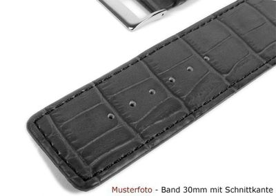 Ersatzband Uhrenarmband Kalbsleder Dunkelbraun  20335G – Bild 2