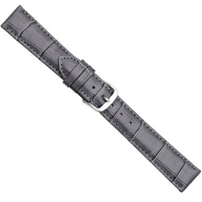 Uhrenarmband Kalbsleder gepolstert Dunkelgrau Herzog 20362S – Bild 1